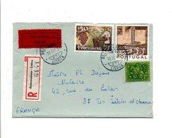 PORTUGAL AFFRANCHISSEMENT COMPOSE SUR LETTRE RECOMMANDE DE LISBOA POUR LA FRANCE 1971 - Lettres & Documents