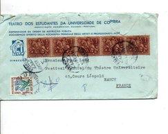 PORTUGAL AFFRANCHISSEMENT COMPOSE SUR LETTRE A EN TETE DE COIMBRA POUR LA FRANCE 1965 TAXEE A L'ARRIVEE - Lettres & Documents