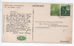 CARTE IMPRIME PUBLICITAIRE PUB SANTE - MAURITUS / ILE MAURICE - Mauritius (1968-...)