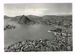 V5129 Lugano - Monte San Salvatore E Il Lago - Panorama / Viaggiata 1965 - TI Tessin
