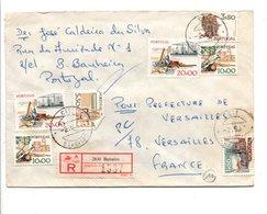 PORTUGAL AFFRANCHISSEMENT COMPOSE SUR LETTRE RECOMMANDEE DE BARREIRO POUR LA FRANCE 1981 - 1910-... République