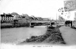 LAGNY PONT DE FER ,PENICHE HALAGE ,CHEVAUX   REF 64867 - Hausboote