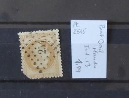 03 - 20 //  France N° 28  Oblitéré PC 2545 - Port Bail - Manche - Indice 13 - 1863-1870 Napoleone III Con Gli Allori