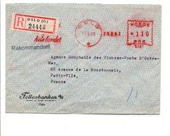NORVEGE EMA SUR LETTRE RECOMMANDEE DE OSLO POUR LA FRANCE 19 - Brieven En Documenten