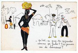 """"""" T'as Jamais Vu De Bananes ? """" / Illustrateur ? - Zeitgenössisch (ab 1950)"""