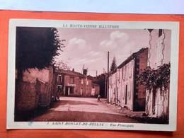CPA (87) Saint Bonnet De Bellac.Rue Principale.   (O+1.059) - Other Municipalities