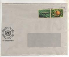 """Beaux Timbres , Stamps """" Animaux : Espèces Menacées D'extinction """" Sur Lettre , Cover  Du 06/04/1994 - Genf - Büro Der Vereinten Nationen"""