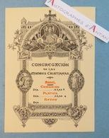 Congrégacion De Las Madres Cristianas - Carton Imprimé Par Stern Fin XIXè / Début XXè - Old Paper