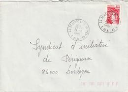 """Env. De """"St Laurent De La Mer GA - 22, Côte Du Nord"""" Du 14-01-1981, Sur YT 2102 (Guichet Annexe) - Matasellos Manuales"""