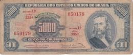 BILLETE DE BRASIL DE 5000 CRUZEIROS DEL AÑO 1964 (BANKNOTE) TIRADENTES - Brésil