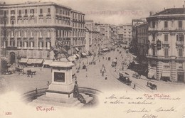 NAPOLI-VIA MEDINA-CARTOLINA VIAGGIATA IL 5-1-1901 - Napoli