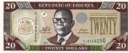 LIBERIA 20 DOLLARS 2011 P-28g  UNC - Liberia