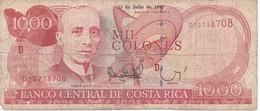BILLETE DE COSTA RICA DE 1000 COLONES AÑO 1997 SERIE D  (BANKNOTE) - Costa Rica