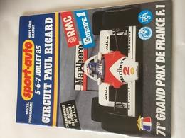 Programme 71e  Grand Prix De France F1 1985 - Automobile - F1