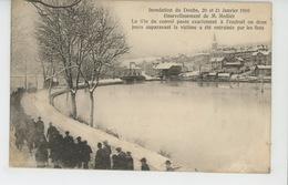 VILLERS LE LAC - Inondation Du Doubs , 20 Et 21 Janvier 1910 - Ensevelissement De M. Mollier - La Tête Du Convoi Passe.. - Francia