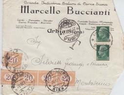 Da Siena - Coppia Cent. 25 Imperiale + Striscia Di 4 Segnatasse + 1 Da Cent. 20 Tassata Per Doppio Porto Non Comune - 1900-44 Victor Emmanuel III