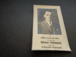 Doodsprentje ( 879 )  Vekeman -   Ongeluk -  Velsique  Velzeke  Geeraardsbergen  Geraardsbergen   1942 - Décès