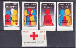 France 4819/4823  Croix Rouge Neuf TB ** MNH Sin Charnela Prix De La Poste  2.9 - Neufs