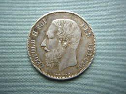 5 FRS LEOPOLD II - 1871 - ARGENT - 1865-1909: Leopold II