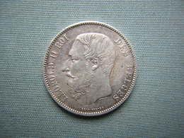 5 FRS LEOPOLD II - 1873 - ARGENT - 09. 5 Francs