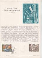 = Miniature Du XVè Sur La Musique Collection Historique De France 1er Jour Paris 13.1.79 N°2033 - Documenten Van De Post