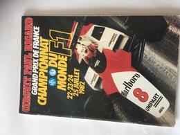 Programme OFFICIEL  Grand Prix De France F1 1982 AVEC AUTOGRAPHES - Automobile - F1