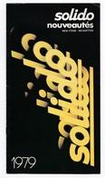 Catalogue Solido Nouveautés 1979, Petites Voitures, Voitures Miniatures, Cirque, Camions, Hélicoptères, Jouets - Catalogues & Prospectus