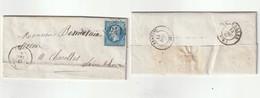 1867 N°22 Oblitéré GC 2411 Monsol (Rhone) Sur LAC (lot 388a) - 1862 Napoléon III