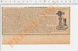 Presse 1907 Publicité Moulin-Eclipse Vidal-Beaume Avenue De La Reine Boulogne-sur-Seine Thème éolienne Pompe à Eau 229H - Unclassified