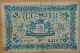 Mulhouse ( 68) 50 Centimes Chambre De Commerce 18 Décembre 1918 Série B - Chambre De Commerce