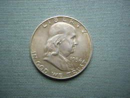 ETATS-UNIS - HALF DOLLAR FRANKLIN 1954  - ARGENT - Émissions Fédérales