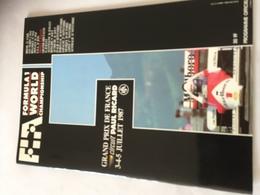 Programme OFFICIEL  Grand Prix De France F1 1987 - Automobile - F1