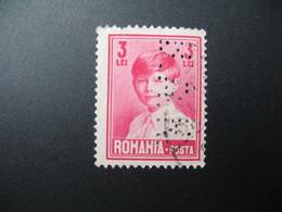 Perforé Perfin Lochung , Roumanie   See, à Voir  BAR   10 - Romania