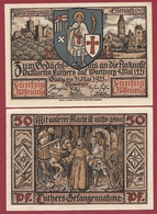 Allemagne 1 Notgeld 50 Pfenning Stadt Eisenach Dans L 'état Lot N °6001 - [ 3] 1918-1933 : République De Weimar