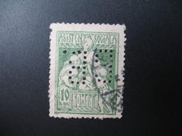 Perforé Perfin Lochung , Roumanie   See, à Voir  BB  19 - Romania