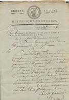 Précurseur - LAC Datée De Thourout Le 29 Floréal An V (1797) > Bruges / Commissaire Du Pouvoir Exécutif (Canton De Thour - 1794-1814 (Période Française)