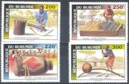 Burundi COB 1022/5 Muziekinstrumenten-Instruments De Musique 1993 MNH - Burundi