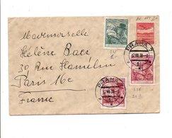 TCHECOSLOVAQUIE AFFRANCHISEMENT COMPOSE SUR LETTRE POUR LA FRANCE 1938 - Czechoslovakia