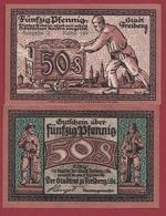 Allemagne 1 Notgeld 50 Pfenning Stadt Freiberg Dans L 'état Lot N °6007 - [ 3] 1918-1933 : République De Weimar