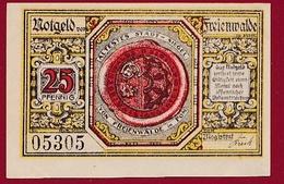 Allemagne 1 Notgeld 25 Pfenning Stadt Freienwalde Dans L 'état Lot N °6008 - [ 3] 1918-1933 : République De Weimar