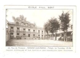 CPA 94 NOGENT Sur MARNE Ecole Paul Bert 22 Rue Plaisance Façade Intérieure Vue Nouvelles Constructions Peu Commune - Nogent Sur Marne