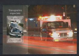 S362. S.Tome E Principe - MNH - 2014 - Transport - Cars - Special Transport - Bl - Cars