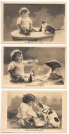 5 Cartes ... Bouboule Et Les Betes...du N°1 A 5 ... Chien,chat,lapin ...ect... - Enfants