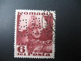 Perforé Perfin Lochung , Roumanie   See, à Voir  BB  22 - Romania