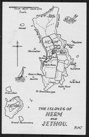 Herm Jethou Map Postcard - Local Issues