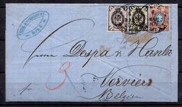 Russie Belle Lettre Entière De 1872 Pour La Belgique. Affranchissement Multiple. B/TB. A Saisir! - 1857-1916 Impero