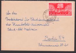"""PRORA über Bergen - Rügen, 20 Pfg. 15 Jahre SED, """"Sozialistische Einheitspartei Deutschlands"""" - [6] République Démocratique"""
