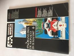 Programme OFFICIEL  Grand Prix De MONACO De F1 1987 - Automobile - F1