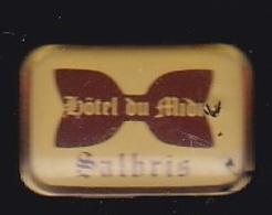 63740- Pin's-hotel Du Midi.Salbris. - Villes