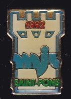 63747- Pin's-MJC Saint Pons. - Villes